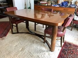 Gilbert Rohde for Herman Miller Dining Table & Six Chairs c. 1936