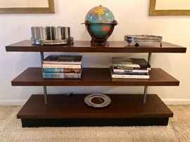 Gilbert Rohde for Herman Miller No. 3454 East Indian Three Tier Bookshelf c. 1939