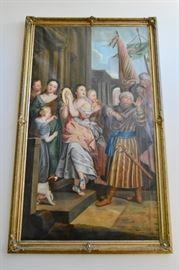 Large Oil on Canvas, circa 1850