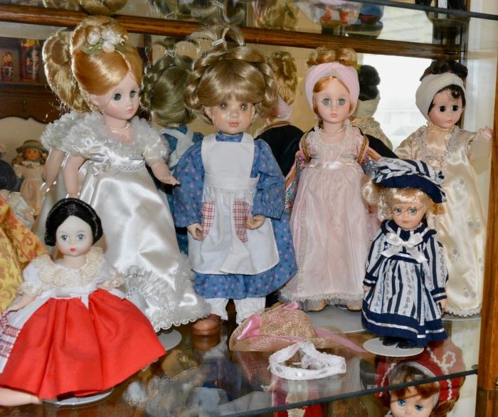 Case FULL of Vintage Dolls