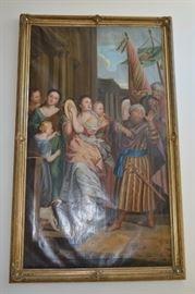 LARGE Mid 19th Century Oil on Canvas