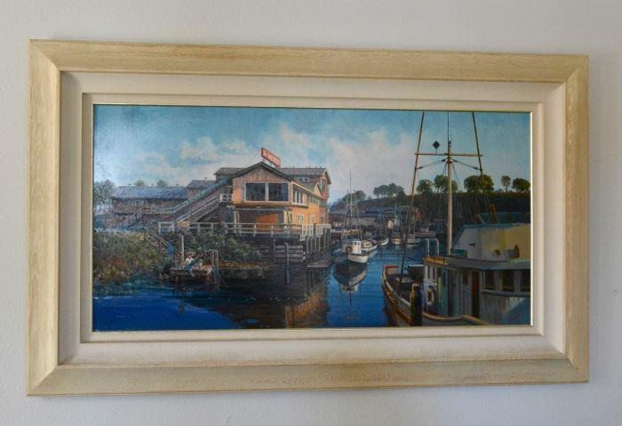 Harbor Scene by Mottola