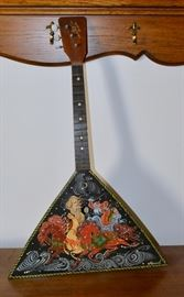Handpainted Russian Balalaika stringed instrument