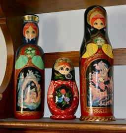 Russian Nesting Dolls and Bottle holders