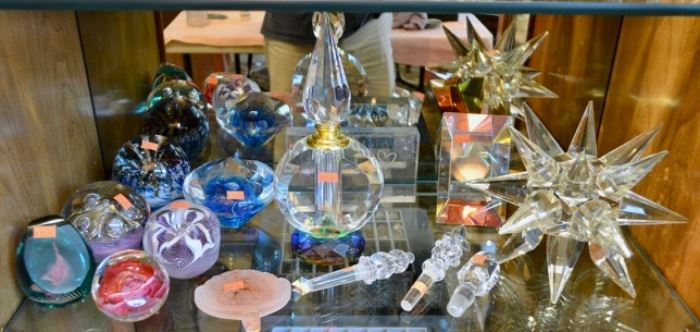 Beautiful Perfume Bottles and Paperweights