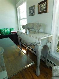 Farmhouse design drop leaf sofa table