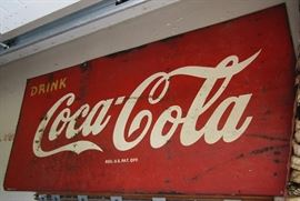 Large metal antique Coca-Cola Sign