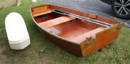Beautiful Hand Made Boat, was being used as a Decorative Shelf