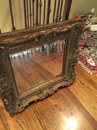 Absolutely gorgeous detailed antique mirror