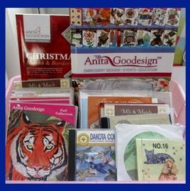 A Large Selection of Anita Goodesign CDs and Design Books; Part of the Brother Innov-s 4000D Package