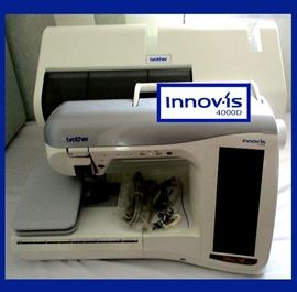 Excellent Brother Innov-is 4000D Embroidery Machine, Comes with EVERYTHING!! See following Photos