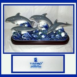 Fabulous Large Dolphin Lladro
