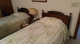 Twin beds in upstairs apartment