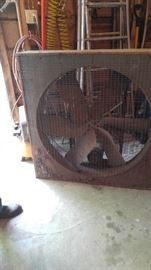 Large fan...they don't make them like this anymore! Will blow you away