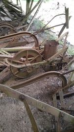 Vintage plows farm implements