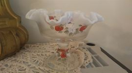 Hand painted Fenton Strawberry