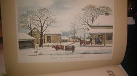 Vintage books curried & ives & more