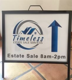 Follow the Timeless directional signs to the sale