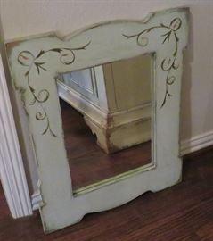 Celadon mirror