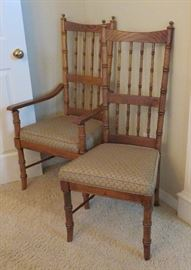 Bamboo design dining chairs