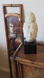Bamboo motif mirror