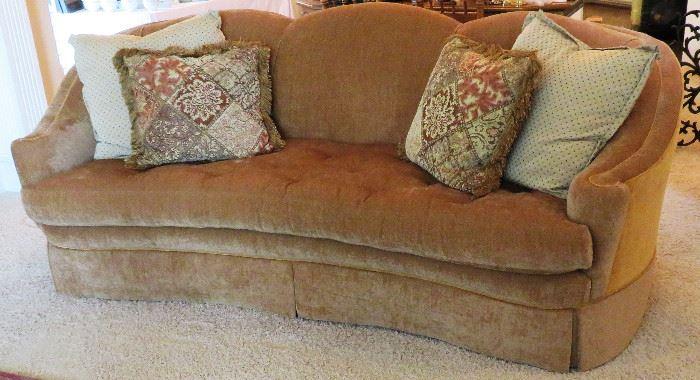 Sherrill Furniture curved sofa - gorgeous & comfy!