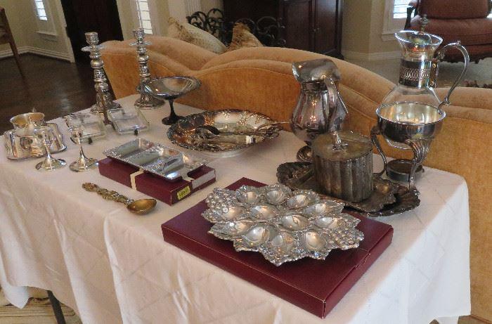 Arthur Court, silverplate servingware