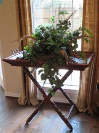 Large butler's tray with stand