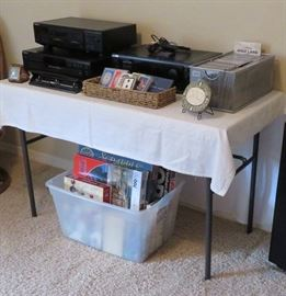 Sony stereo components, CDs, board games/puzzles - some vintage