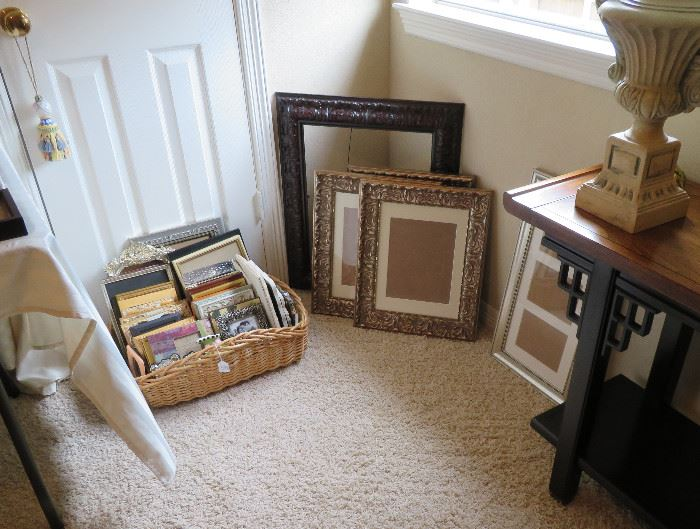 Wouldn't be an estate sale without picture frames!