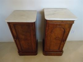Side table cabinets with marble top