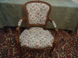 Vintage wide seat chair