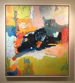 "Large oil on canvas by Alison Nichols Ferrig, St. Louis artist. It measures 38"" wide by 42"" long."