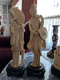 A. Santini Statues made in Italy Small $35 Tall $65 each 2