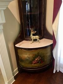 French cabinet with hand painted mural. Once was in a bordello  in New Orleans