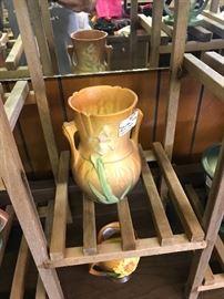 Iris Roseville vase