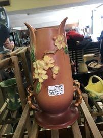 Roseville Apple Blossom vase