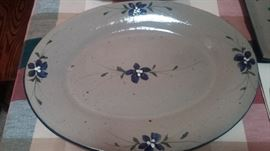"""""""Conner's Pottery"""" custom made by Minnesota Potter. Platter part of complete set"""