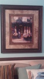 Large Dark framed, double Matt picture