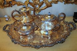 "Wilcox ""Essex Manor"" silverplate tea service"