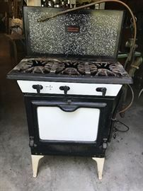 Two-Burner Metal Stove