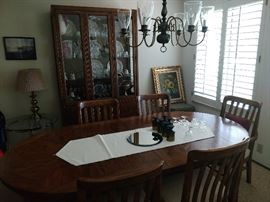 Furniture Dining Room set with Hutch