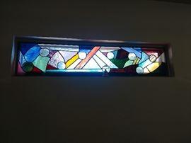 Stain glass piece