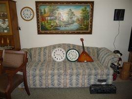 clocks / sofa /misc