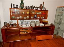Faarup Mobelfabrik Furniture Makers Danish Control teak credenza with hutch