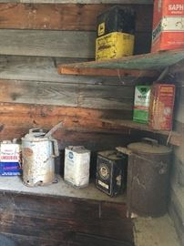 some cans from one of the sheds