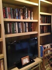 More books and flatscreen TV