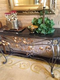 Marble top sofa/entry table