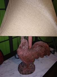 Another rooster lamp