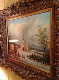 Exceptional vintage art by Fleming beautifully framed